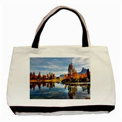 Dolomites Mountains Italy Alpine Basic Tote Bag (two Sides)