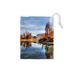 Dolomites Mountains Italy Alpine Drawstring Pouches (small)