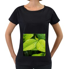 Leaf Green Foliage Green Leaves Women s Loose Fit T Shirt (black)