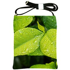 Leaf Green Foliage Green Leaves Shoulder Sling Bags by Simbadda