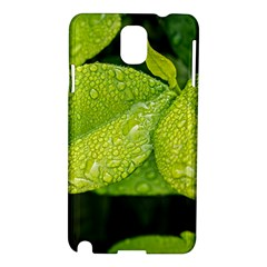 Leaf Green Foliage Green Leaves Samsung Galaxy Note 3 N9005 Hardshell Case by Simbadda