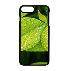 Leaf Green Foliage Green Leaves Apple Iphone 7 Plus Seamless Case (black) by Simbadda