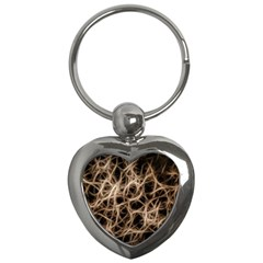 Structure Background Pattern Key Chains (heart)