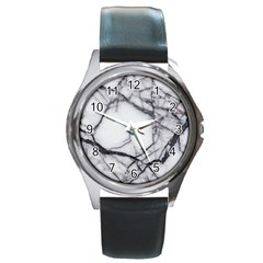 Marble Tiles Rock Stone Statues Round Metal Watch