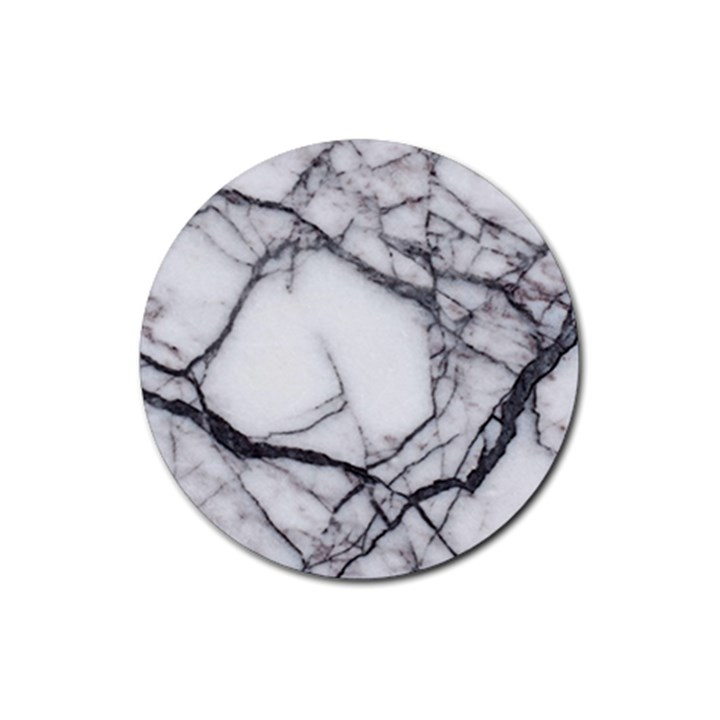 Marble Tiles Rock Stone Statues Rubber Round Coaster (4 pack)