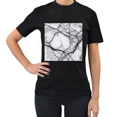 Marble Tiles Rock Stone Statues Women s T Shirt (black) (two Sided)