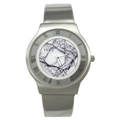 Marble Tiles Rock Stone Statues Stainless Steel Watch
