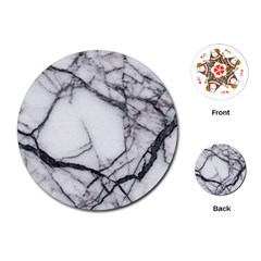 Marble Tiles Rock Stone Statues Playing Cards (round)