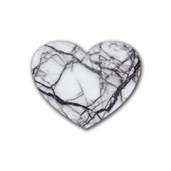Marble Tiles Rock Stone Statues Rubber Coaster (heart)