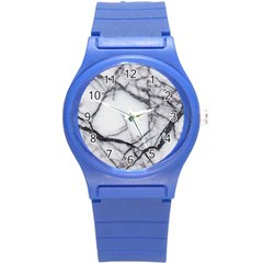 Marble Tiles Rock Stone Statues Round Plastic Sport Watch (s) by Simbadda