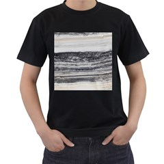 Marble Tiles Rock Stone Statues Pattern Texture Men s T Shirt (black) (two Sided)