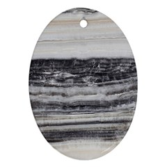 Marble Tiles Rock Stone Statues Pattern Texture Oval Ornament (two Sides)