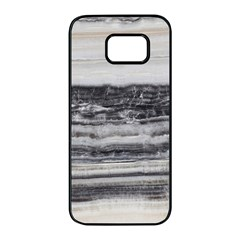 Marble Tiles Rock Stone Statues Pattern Texture Samsung Galaxy S7 Edge Black Seamless Case by Simbadda