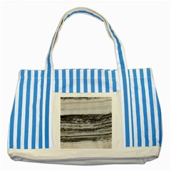 Marble Tiles Rock Stone Statues Pattern Texture Striped Blue Tote Bag