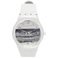 Marble Tiles Rock Stone Statues Pattern Texture Round Plastic Sport Watch (m)