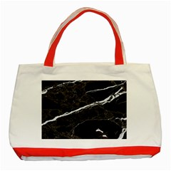 Marble Tiles Rock Stone Statues Classic Tote Bag (red)