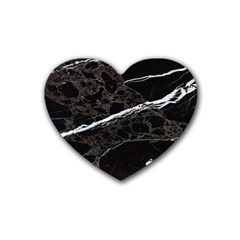 Marble Tiles Rock Stone Statues Heart Coaster (4 Pack)  by Simbadda