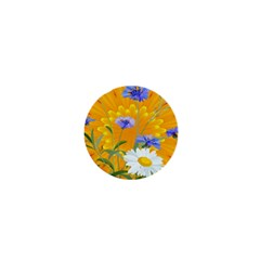 Flowers Daisy Floral Yellow Blue 1  Mini Magnets