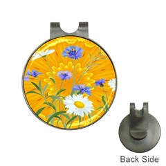 Flowers Daisy Floral Yellow Blue Hat Clips With Golf Markers