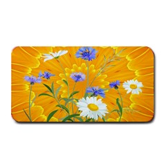 Flowers Daisy Floral Yellow Blue Medium Bar Mats