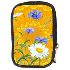 Flowers Daisy Floral Yellow Blue Compact Camera Cases