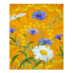 Flowers Daisy Floral Yellow Blue Shower Curtain 60  X 72  (medium)  by Simbadda