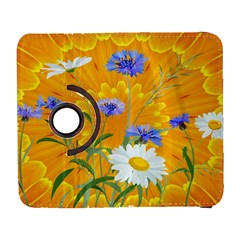 Flowers Daisy Floral Yellow Blue Galaxy S3 (flip/folio)