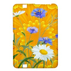 Flowers Daisy Floral Yellow Blue Kindle Fire Hd 8 9