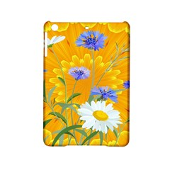 Flowers Daisy Floral Yellow Blue Ipad Mini 2 Hardshell Cases by Simbadda