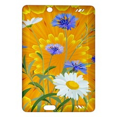 Flowers Daisy Floral Yellow Blue Amazon Kindle Fire Hd (2013) Hardshell Case