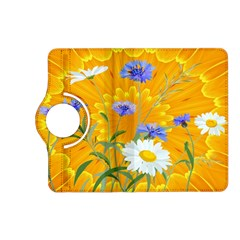 Flowers Daisy Floral Yellow Blue Kindle Fire Hd (2013) Flip 360 Case