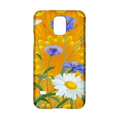 Flowers Daisy Floral Yellow Blue Samsung Galaxy S5 Hardshell Case
