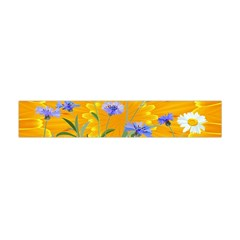 Flowers Daisy Floral Yellow Blue Flano Scarf (mini)