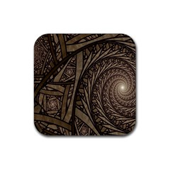 Abstract Pattern Graphics Rubber Square Coaster (4 Pack)