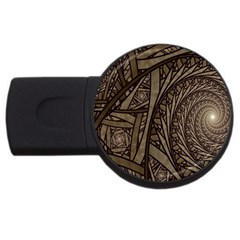 Abstract Pattern Graphics Usb Flash Drive Round (2 Gb)