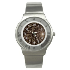 Abstract Pattern Graphics Stainless Steel Watch