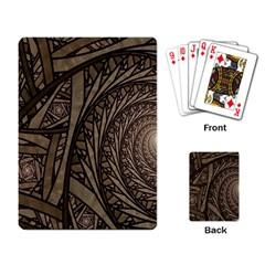 Abstract Pattern Graphics Playing Card by Simbadda