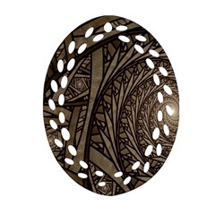 Abstract Pattern Graphics Oval Filigree Ornament (two Sides)