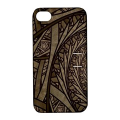 Abstract Pattern Graphics Apple Iphone 4/4s Hardshell Case With Stand