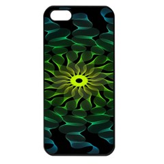 Abstract Ribbon Green Blue Hues Apple Iphone 5 Seamless Case (black)