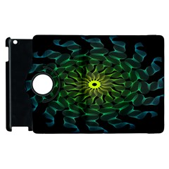 Abstract Ribbon Green Blue Hues Apple Ipad 3/4 Flip 360 Case