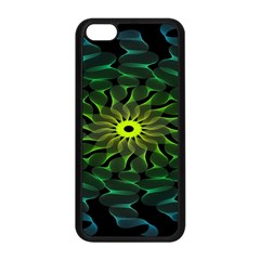 Abstract Ribbon Green Blue Hues Apple Iphone 5c Seamless Case (black)