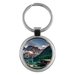 Italy Mountains Pragser Wildsee Key Chains (round)