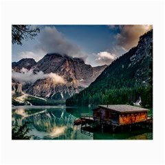 Italy Mountains Pragser Wildsee Small Glasses Cloth