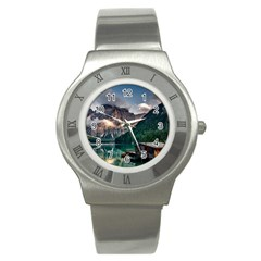 Italy Mountains Pragser Wildsee Stainless Steel Watch