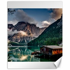 Italy Mountains Pragser Wildsee Canvas 11  X 14