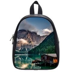 Italy Mountains Pragser Wildsee School Bag (small)