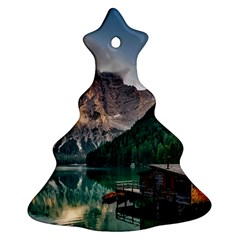 Italy Mountains Pragser Wildsee Ornament (christmas Tree)