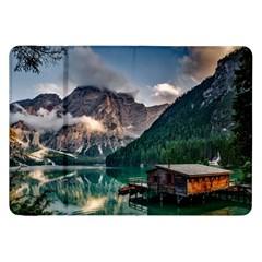 Italy Mountains Pragser Wildsee Samsung Galaxy Tab 8 9  P7300 Flip Case