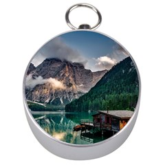 Italy Mountains Pragser Wildsee Silver Compasses